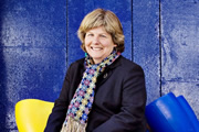 The News Quiz. Sandi Toksvig. Image credit: British Broadcasting Corporation.