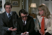 No Sex Please - We're British. Image shows from L to R: David Hunter (Ian Ogilvy), Brian Runnicles (Ronnie Corbett), Penny Hunter (Susan Penhaligon). Copyright: B.H.P. Films.