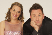 Not Going Out. Image shows from L to R: Lucy (Sally Bretton), Lee (Lee Mack). Image credit: Avalon Television.