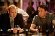 Not Going Out. Image shows from L to R: Tim (Tim Vine), Lee (Lee Mack). Image credit: Avalon Television.