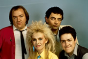 Not Again: Not The Nine O'Clock News. Image shows from L to R: Mel Smith, Pamela Stephenson, Rowan Atkinson, Griff Rhys Jones. Copyright: BBC.