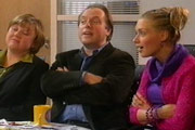 Office Gossip. Image shows from L to R: Jo (Pauline Quirke), Rod (Robert Daws), Cheryl Potts (Daniela Denby-Ashe). Image credit: British Broadcasting Corporation.