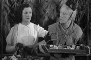 Old Mother Riley. Image shows from L to R: Kitty Riley (Kitty McShane), Old Mother Riley (Arthur Lucan). Copyright: Butcher's Film Service / Hope-Bell Film Productions.