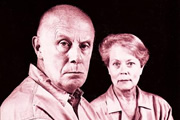 One Foot In The Grave. Image shows from L to R: Victor Meldrew (Richard Wilson), Margaret Meldrew (Annette Crosbie). Copyright: BBC.