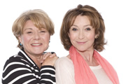 Pat & Cabbage. Image shows from L to R: Pat (Barbara Flynn), Cabbage (Cherie Lunghi). Copyright: Red Production Company.
