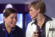 Placebo. Image shows from L to R: Nurse Dana Luther (Katy Brand), Dr Sian Nuttall (Maxine Peake). Copyright: BBC.