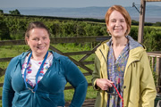 Puppy Love. Image shows from L to R: Nana V (Joanna Scanlan), Naomi (Vicki Pepperdine). Copyright: BBC / Woof Productions.