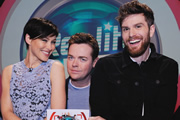 Reality Bites. Image shows from L to R: Emma Willis, Stephen Mulhern, Joel Dommett. Copyright: Hungry Bear Media.
