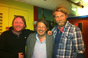 Richard Herring's Edinburgh Fringe Podcast 2011. Image shows from L to R: Chris McCausland, Richard Herring, Tony Law.