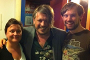 Richard Herring's Edinburgh Fringe Podcast 2011. Image shows from L to R: Susan Calman, Richard Herring, Naz Osmanoglu.