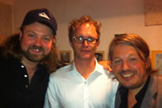 Richard Herring's Edinburgh Fringe Podcast 2011. Image shows from L to R: Glenn Wool, Simon Munnery, Richard Herring.