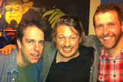 Richard Herring's Edinburgh Fringe Podcast 2011. Image shows from L to R: Nick Doody, Richard Herring, Dave Gorman.
