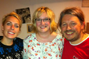 Richard Herring's Edinburgh Fringe Podcast 2011. Image shows from L to R: Sara Pascoe, Sarah Millican, Richard Herring.