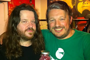 Richard Herring's Edinburgh Fringe Podcast 2011. Image shows from L to R: Ian Boldsworth, Richard Herring.