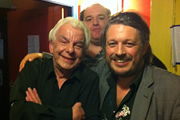Richard Herring's Edinburgh Fringe Podcast 2011. Image shows from L to R: Barry Cryer, Edward Aczel, Richard Herring.