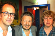 Richard Herring's Edinburgh Fringe Podcast 2011. Image shows from L to R: Josh Howie, Richard Herring, Josh Widdicombe.