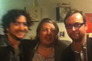 Richard Herring's Edinburgh Fringe Podcast 2011. Image shows from L to R: Lee Camp, Richard Herring, Dan Tetsell.
