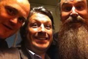 Richard Herring's Edinburgh Fringe Podcast 2011. Image shows from L to R: Al Murray, Richard Herring, Martin Mor.