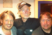 Richard Herring's Edinburgh Fringe Podcast 2011. Image shows from L to R: Richard Herring, Dave Fulton, Steve Gribbin.