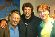 Richard Herring's Edinburgh Fringe Podcast 2011. Image shows from L to R: Richard Herring, Paul Provenza, Joe Lycett.