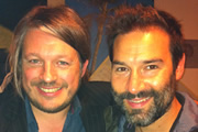 Richard Herring's Edinburgh Fringe Podcast 2011. Image shows from L to R: Richard Herring, Adam Buxton.