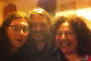 Richard Herring's Edinburgh Fringe Podcast 2012. Image shows from L to R: Andrew O'Neill, Richard Herring, Juliet Meyers.
