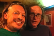 Richard Herring's Edinburgh Fringe Podcast 2012. Image shows from L to R: Richard Herring, Simon Munnery.