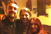 Richard Herring's Edinburgh Fringe Podcast 2012. Image shows from L to R: Markus Birdman, Richard Herring, Lucy Porter.