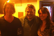 Richard Herring's Edinburgh Fringe Podcast 2012. Image shows from L to R: Christian Reilly, Richard Herring, Nina Conti.