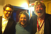 Richard Herring's Edinburgh Fringe Podcast 2012. Image shows from L to R: Matthew Osborn, Richard Herring, Matthew Kelly.