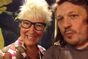 Image shows from L to R: Jenny Eclair, Richard Herring.