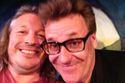 Richard Herring's Edinburgh Fringe Podcast. Image shows from L to R: Richard Herring, Greg Proops.