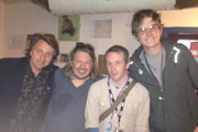 Richard Herring's Edinburgh Fringe Podcast 2013. Image shows from L to R: Milton Jones, Richard Herring, Paul Gannon, Bo Burnham.
