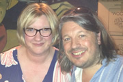 Richard Herring's Edinburgh Fringe Podcast 2013. Image shows from L to R: Sarah Millican, Richard Herring.