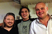 Richard Herring's Edinburgh Fringe Podcast 2013. Image shows from L to R: Richard Herring, Paul Provenza, Al Murray.