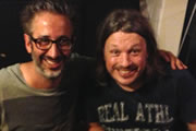 Richard Herring's Edinburgh Fringe Podcast 2013. Image shows from L to R: David Baddiel, Richard Herring.