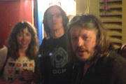 Richard Herring's Edinburgh Fringe Podcast 2013. Image shows from L to R: Bridget Christie, Ed Byrne, Richard Herring.
