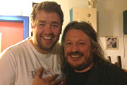 Richard Herring's Edinburgh Fringe Podcast 2013. Image shows from L to R: Jason Manford, Richard Herring.