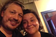 Richard Herring's Edinburgh Fringe Podcast 2013. Image shows from L to R: Richard Herring, Susan Calman.