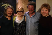 Richard Herring's Edinburgh Fringe Podcast 2013. Image shows from L to R: Richard Herring, Carly Smallman, Rory McGrath, Josh Widdicombe.