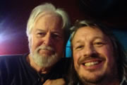 Richard Herring's Edinburgh Fringe Podcast 2013. Image shows from L to R: Ian Lavender, Richard Herring.