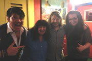 Richard Herring's Edinburgh Fringe Podcast. Image shows from L to R: Doug Segal, Janey Godley, Richard Herring, Ashley Storrie.