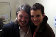 Richard Herring's Leicester Square Theatre Podcast. Image shows from L to R: Richard Herring, Francesca Martinez.
