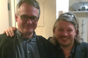 Richard Herring's Leicester Square Theatre Podcast. Image shows from L to R: Charlie Higson, Richard Herring.