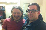 Richard Herring's Leicester Square Theatre Podcast. Image shows from L to R: Richard Herring, Nick Frost.