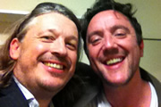 Richard Herring's Leicester Square Theatre Podcast. Image shows from L to R: Richard Herring, Peter Serafinowicz.