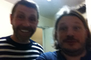 Richard Herring's Leicester Square Theatre Podcast. Image shows from L to R: Dave Gorman, Richard Herring.