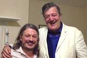 Richard Herring's LST Podcast. Image shows from L to R: Richard Herring, Stephen Fry.