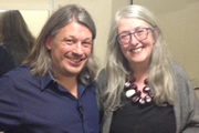 Richard Herring's LST Podcast. Image shows from L to R: Richard Herring, Mary Beard.