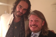 Richard Herring's LST Podcast. Image shows from L to R: Russell Brand, Richard Herring.